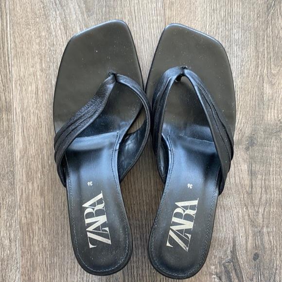 Zara kitten heel sandals size 6